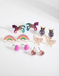 Kids Fairytale Stud Earring 6 Pack - link has visual effect only