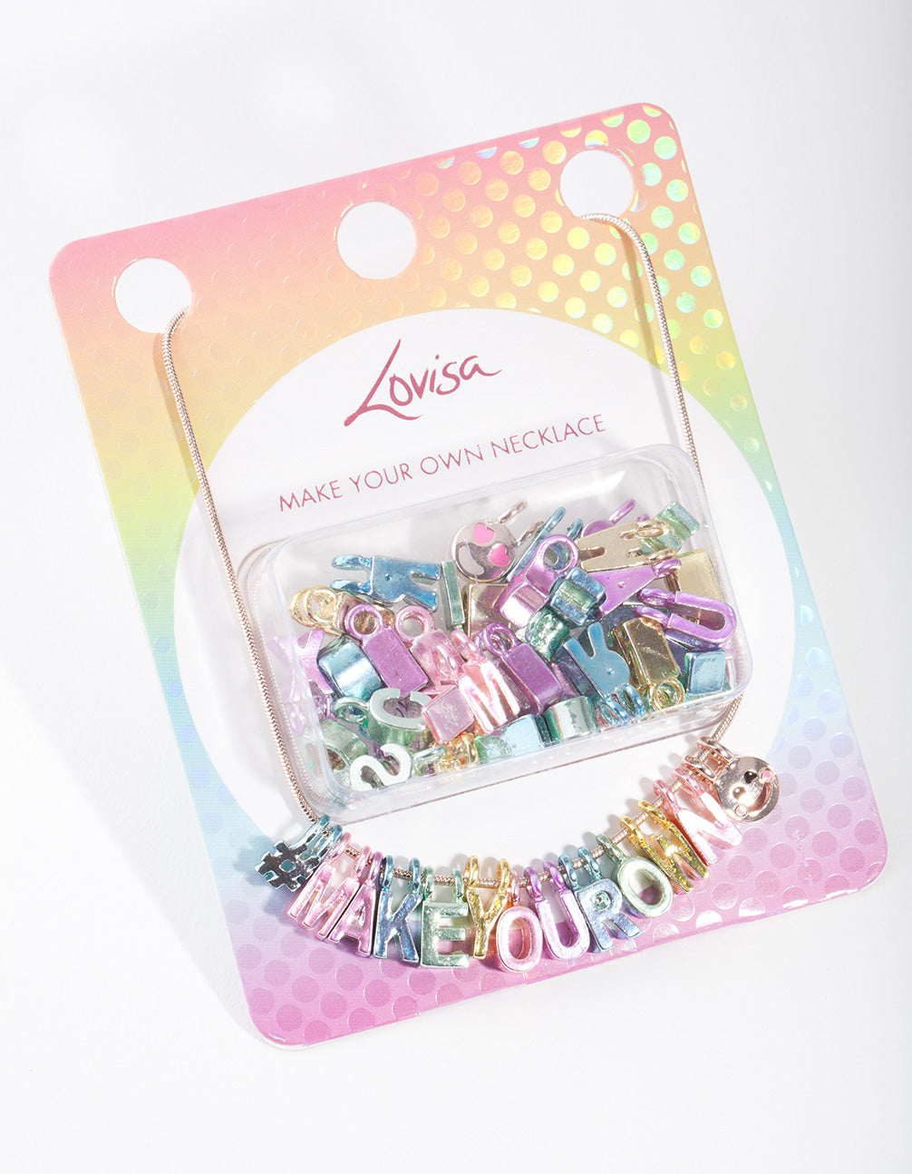 Kids Metallic Charm Necklace Pack