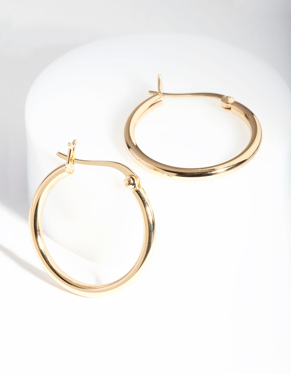 Gold Plated Sterling Silver 20mm Hoop Earrings