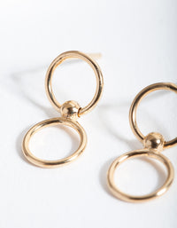 Gold Plated Sterling Silver Double Circle Earring - link has visual effect only
