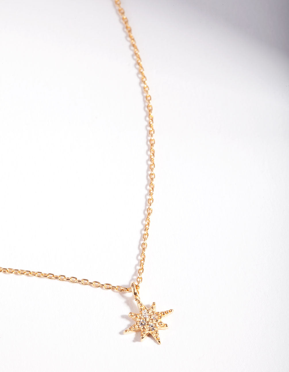 Gold Plated Starburst Necklace