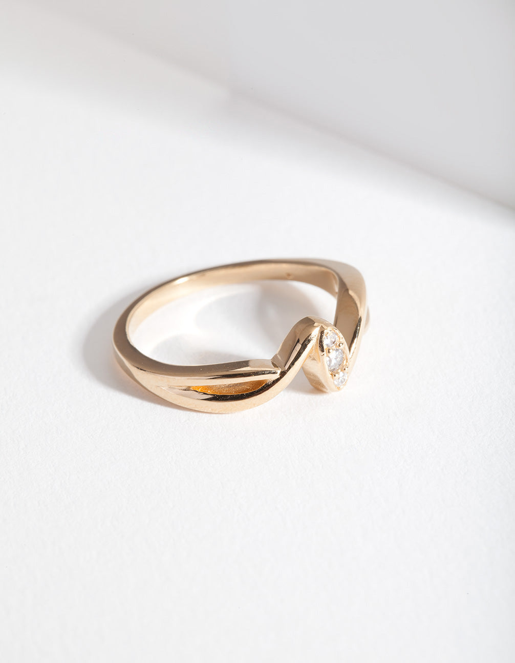 Gold Plated Sterling Silver Wave Ring