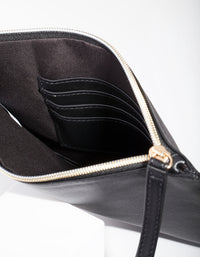 Black Leatherette Clutch - link has visual effect only