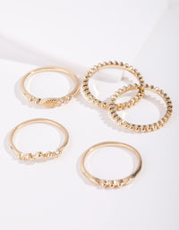 Real Gold Plated Fine Ring Stack - link has visual effect only