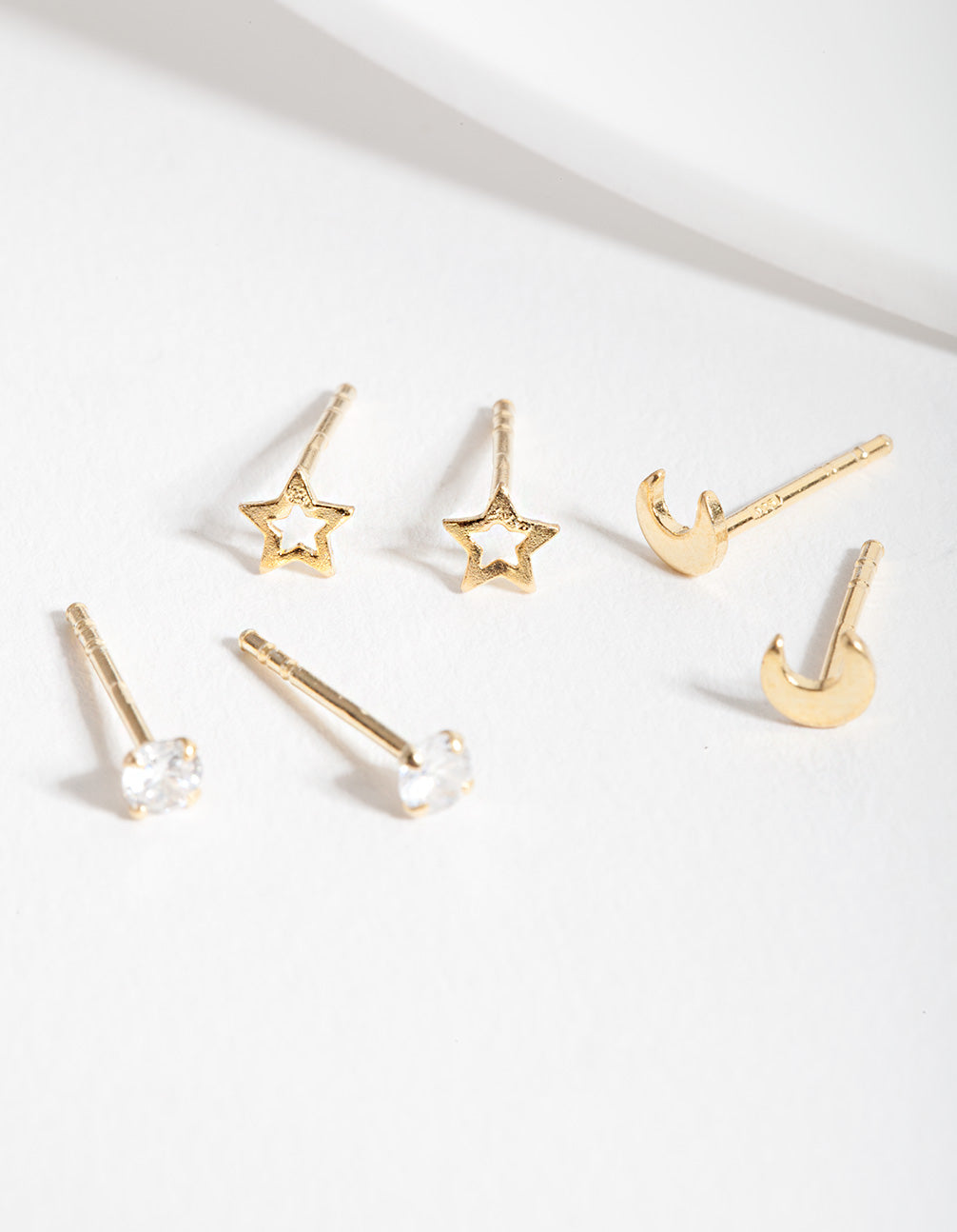 Gold Plated Sterling Silver Celestial Earring Trio