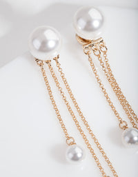 Gold Cascading Pearl Drop Earrings - link has visual effect only