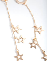 Gold Star Chain Earring - link has visual effect only