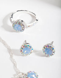 Swarovski Silver Blue Jewellery Set - link has visual effect only