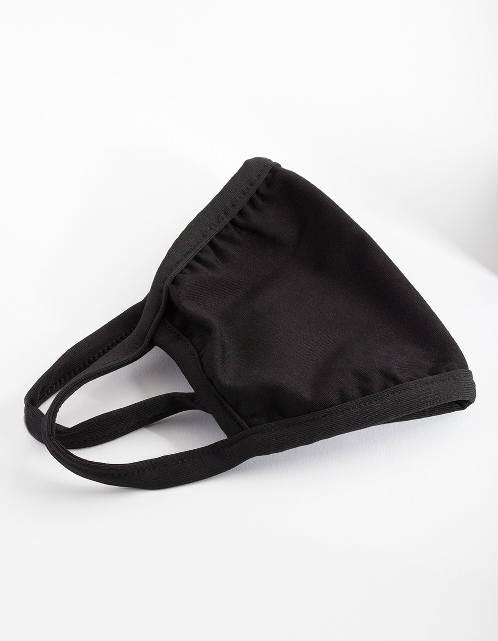 Black Plain Cloth Face Mask