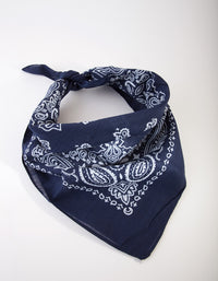Navy Paisley Cotton Bandana - link has visual effect only