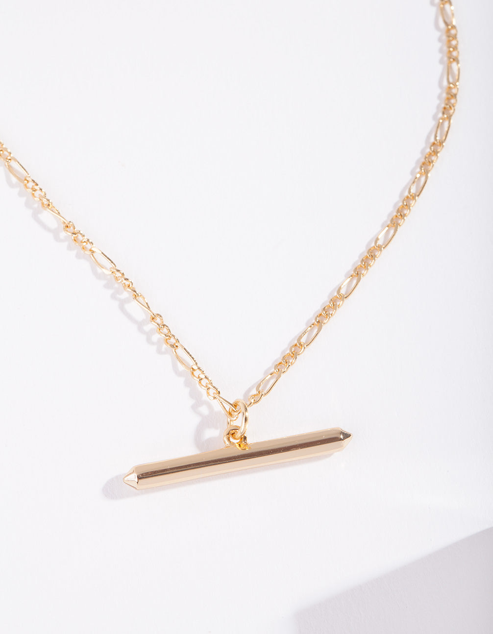 Real Gold Plated Bar Necklace
