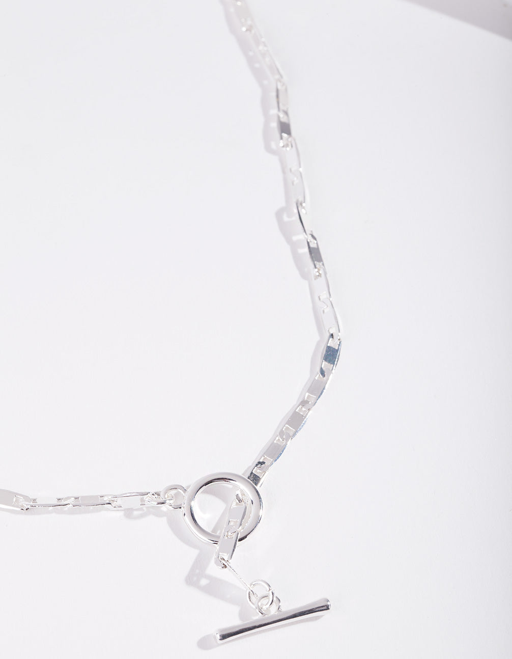 Real Silver Plated Lariat Necklace