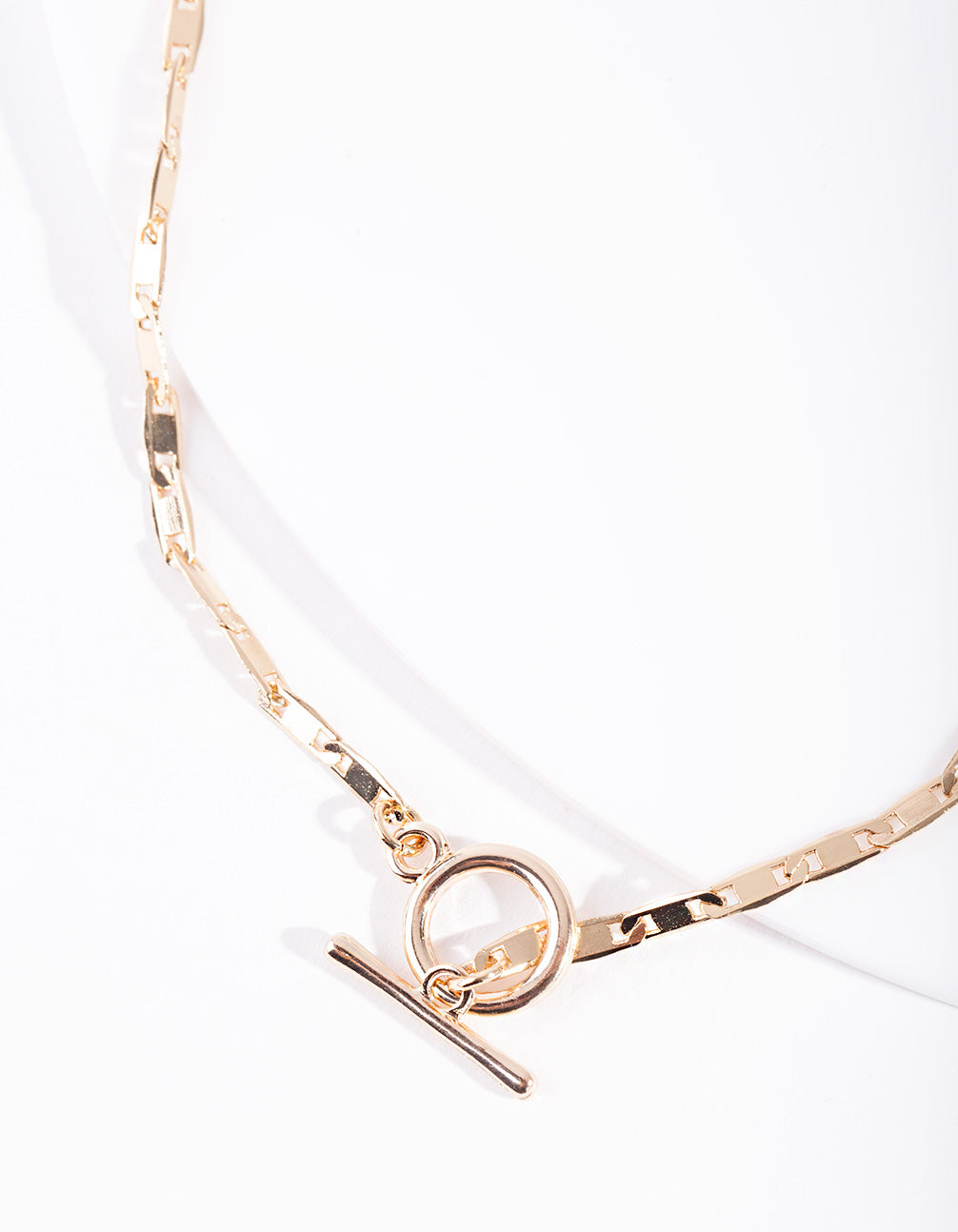 Real Gold Plated Lariat Necklace