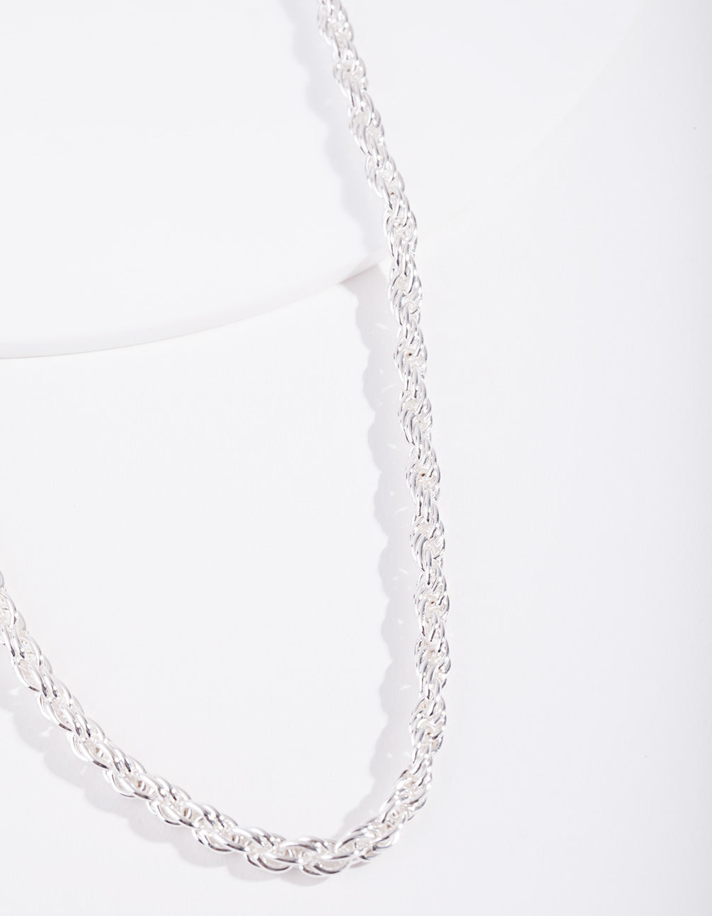 Real Silver Plated Thick Chain Necklace
