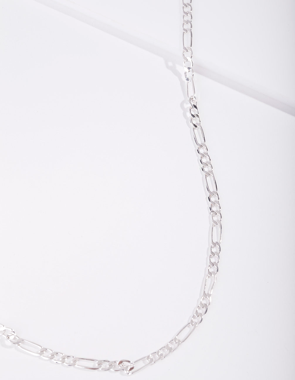 Real Silver Plated 60cm Figaro Chain Necklace