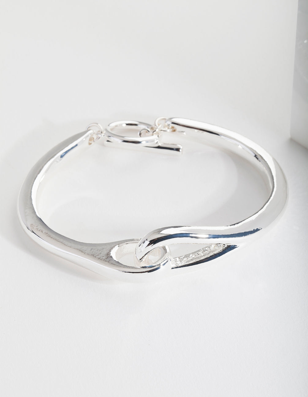 Real Silver Plated Knot T and O Bangle