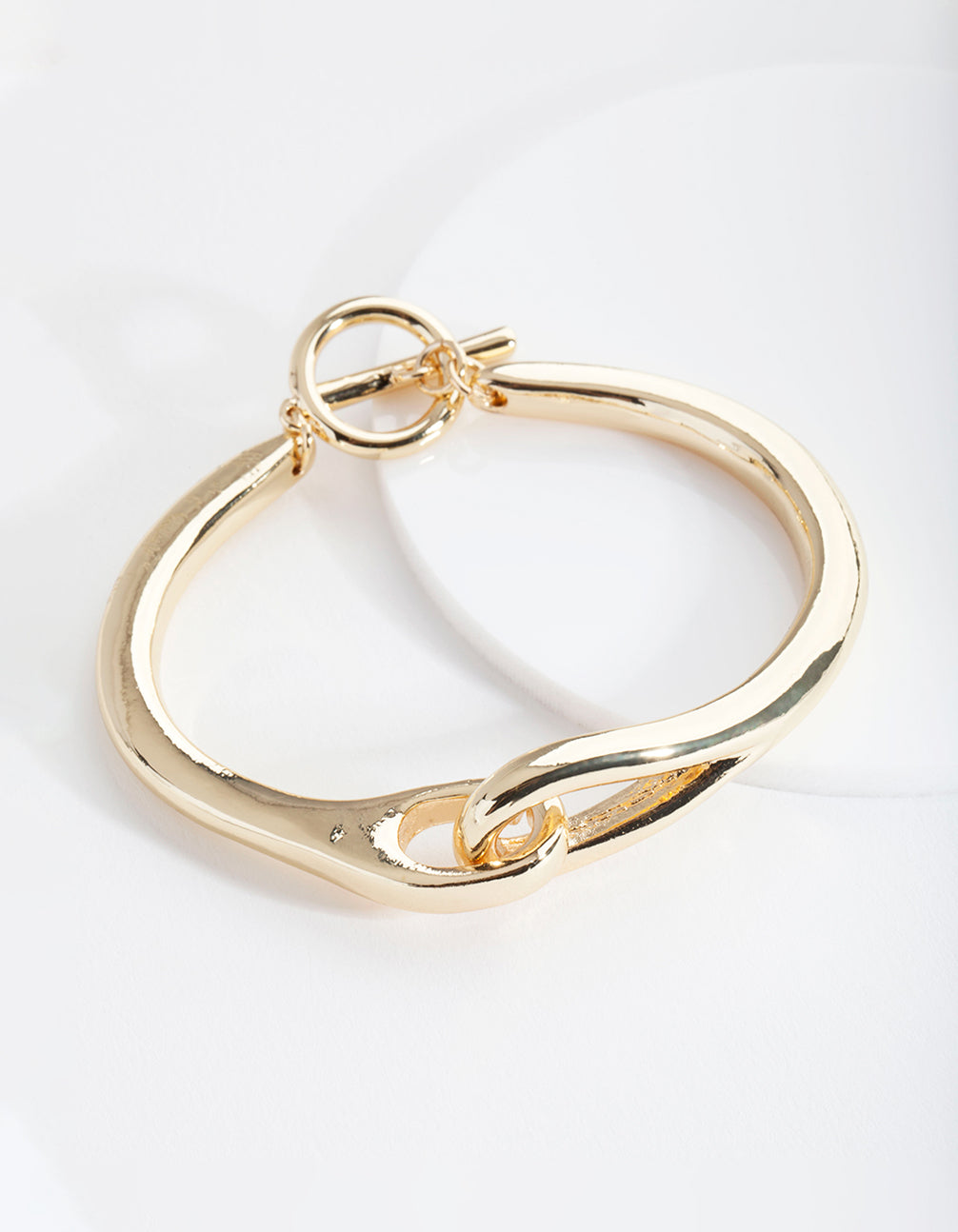 Real Gold Plated Knot T and O Bangle