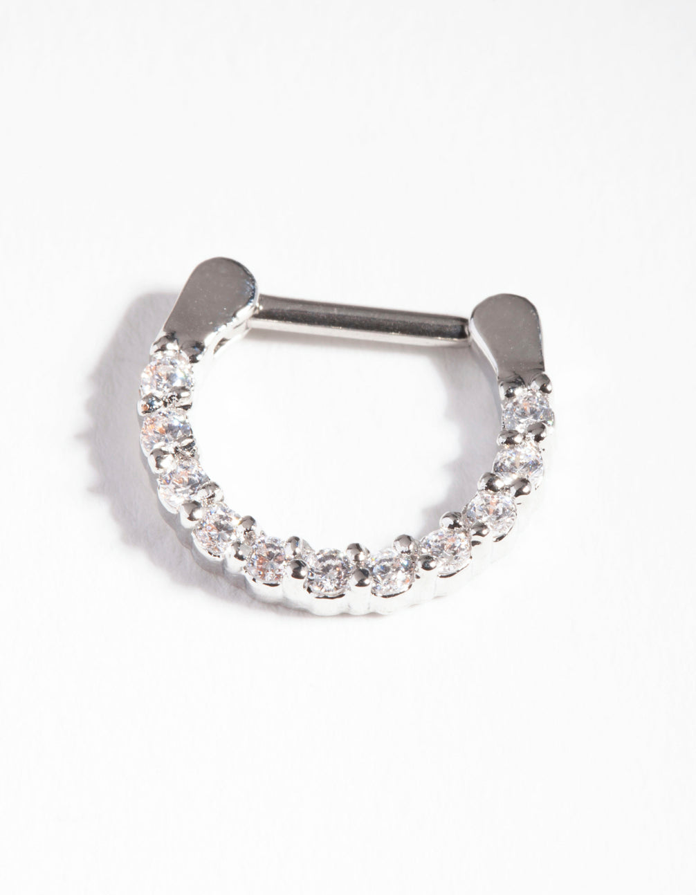 Surgical Steel Cubic Zirconia Septum Ring