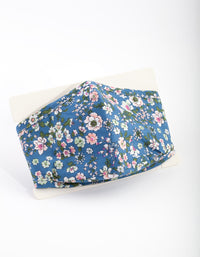 PRE ORDER: Blue Floral Face Mask- Estimated Despatch 17/08/2020 - link has visual effect only