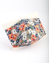 Orange and Blue Floral Face Mask - link has visual effect only