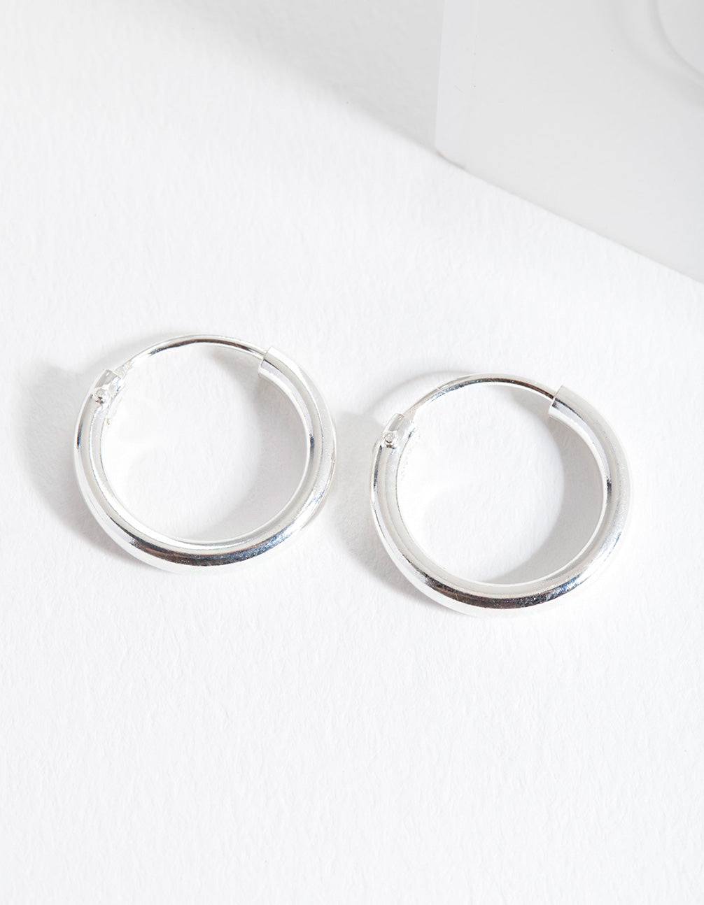 Sterling Silver Mini Polished Hoop Earring