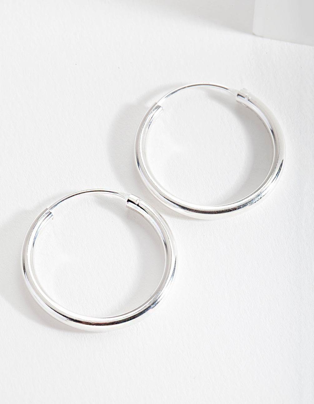 Sterling Silver Shiny 25mm Hoop Earring