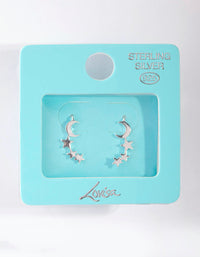Sterling Silver Celestial Drop Earrings - link has visual effect only