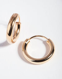 Gold Plated Sterling Silver Tube Hoop Earring - link has visual effect only