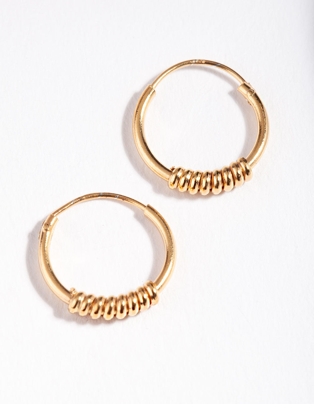 Gold Plated Sterling Silver Ring Hoop Earring