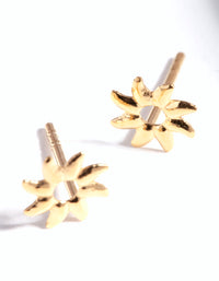 Gold Plated Sterling Silver Sunray Stud Earring - link has visual effect only