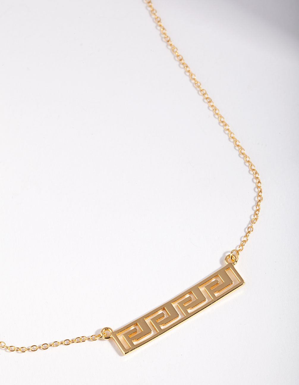 Gold Plated Sterling Silver Geometric Bar Necklace