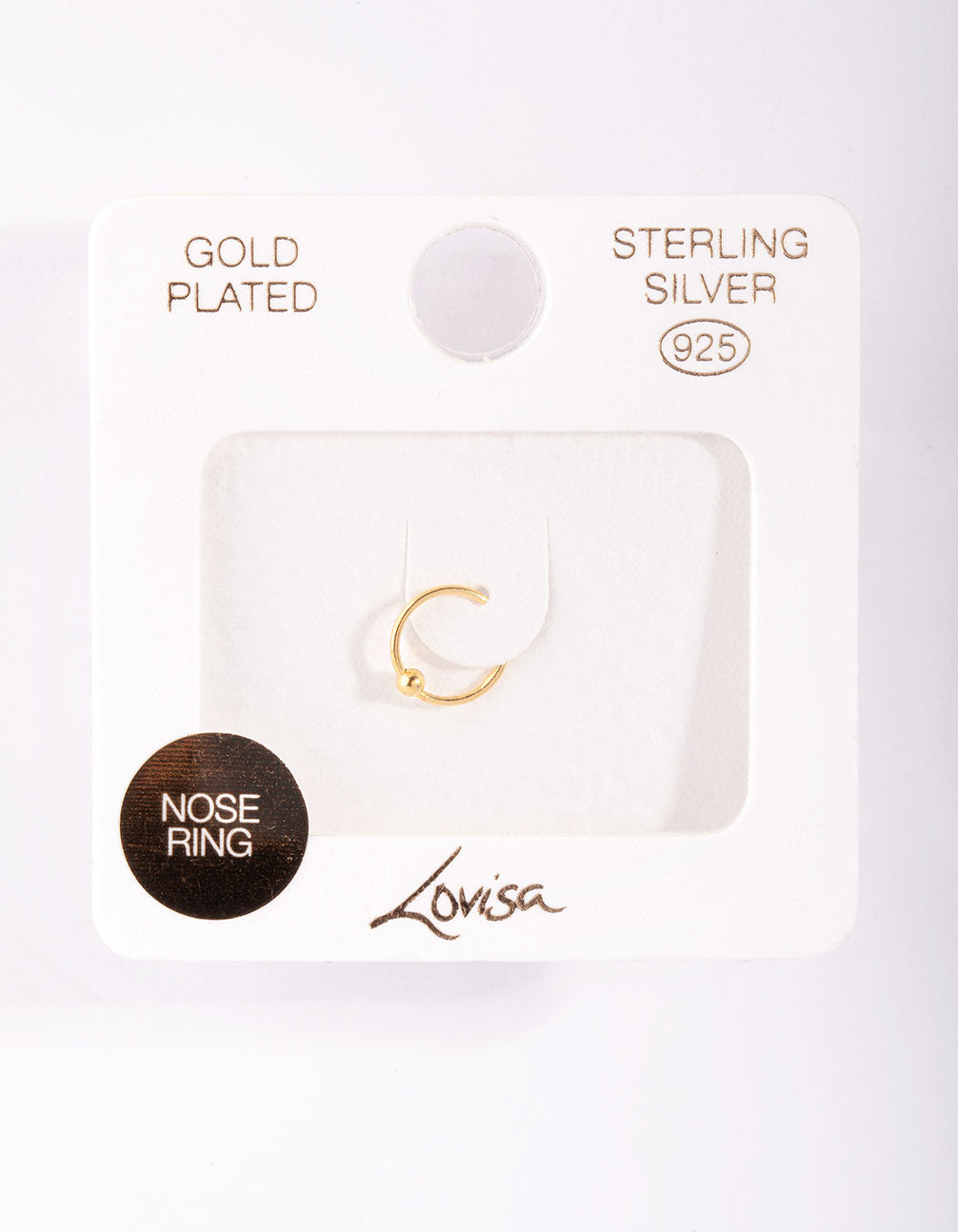 Gold Plated Sterling Silver Mini Nose Ring