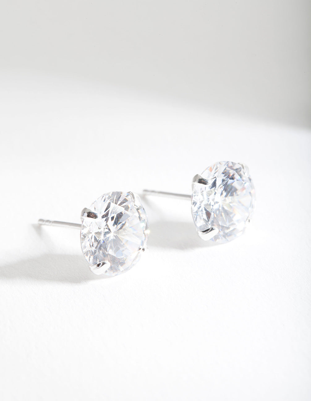Sterling Silver 3 Carat Cubic Zirconia Stone Earring