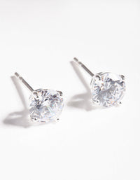 Sterling Silver Cubic Zirconia 1 Carat Stud Earring - link has visual effect only