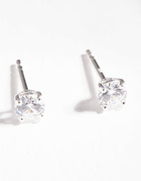 Sterling Silver Cubic Zirconia 1/2 Carat Stud Earring - link has visual effect only