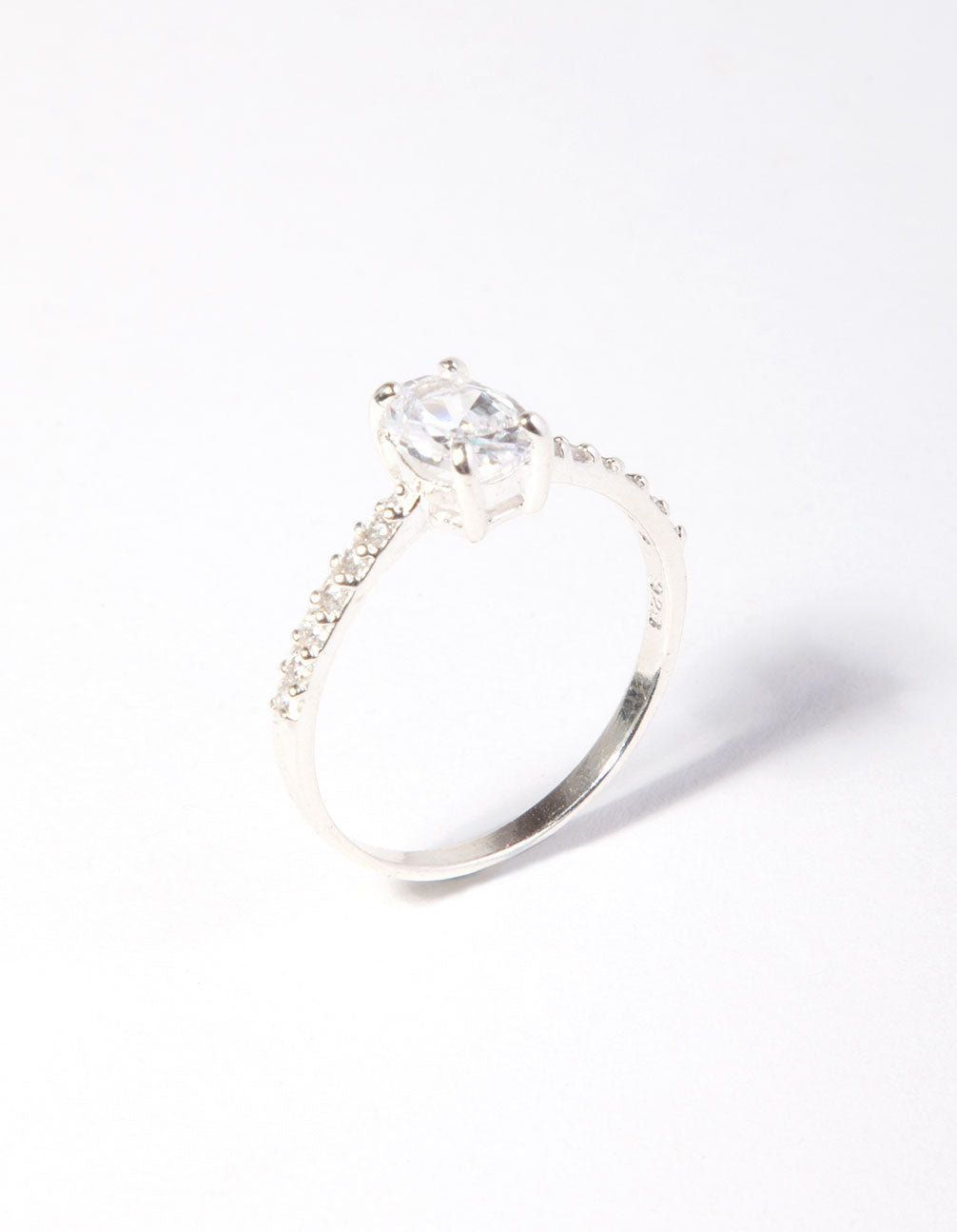 Oval 1/2 Carat Cubic Zirconia Sterling Silver Ring