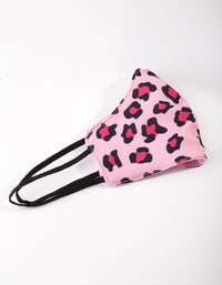 Kids Pink Leopard Print Mask - link has visual effect only