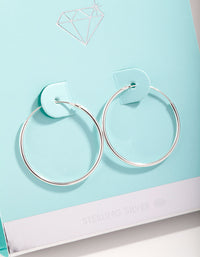 Sterling Silver 25mm Hoop Earrings - link has visual effect only
