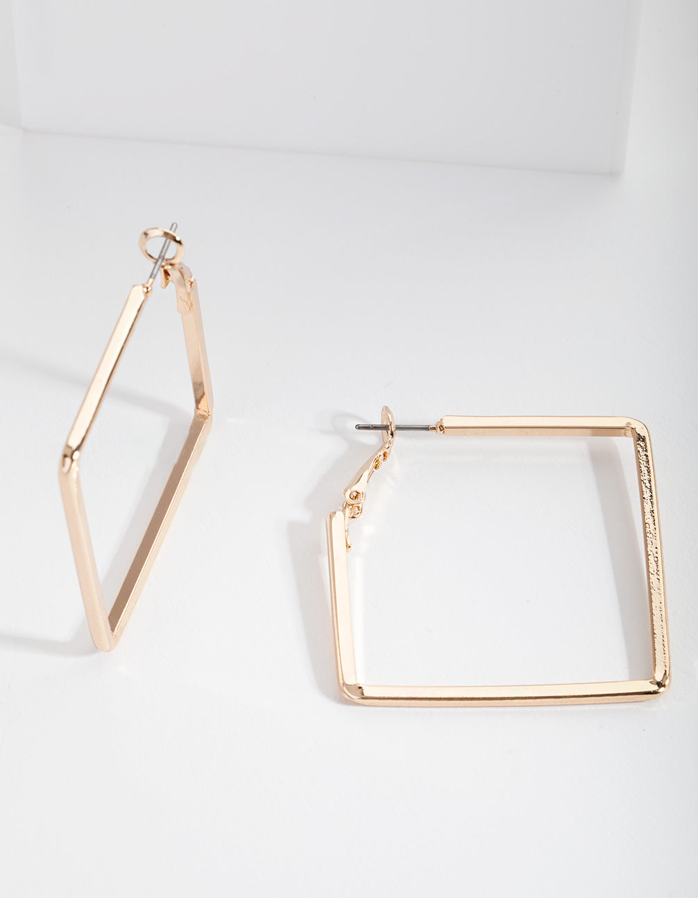 Gold Small Square Hoop Earrings