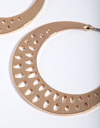Gold Cut-Out Triangle Hoop Earring - link has visual effect only