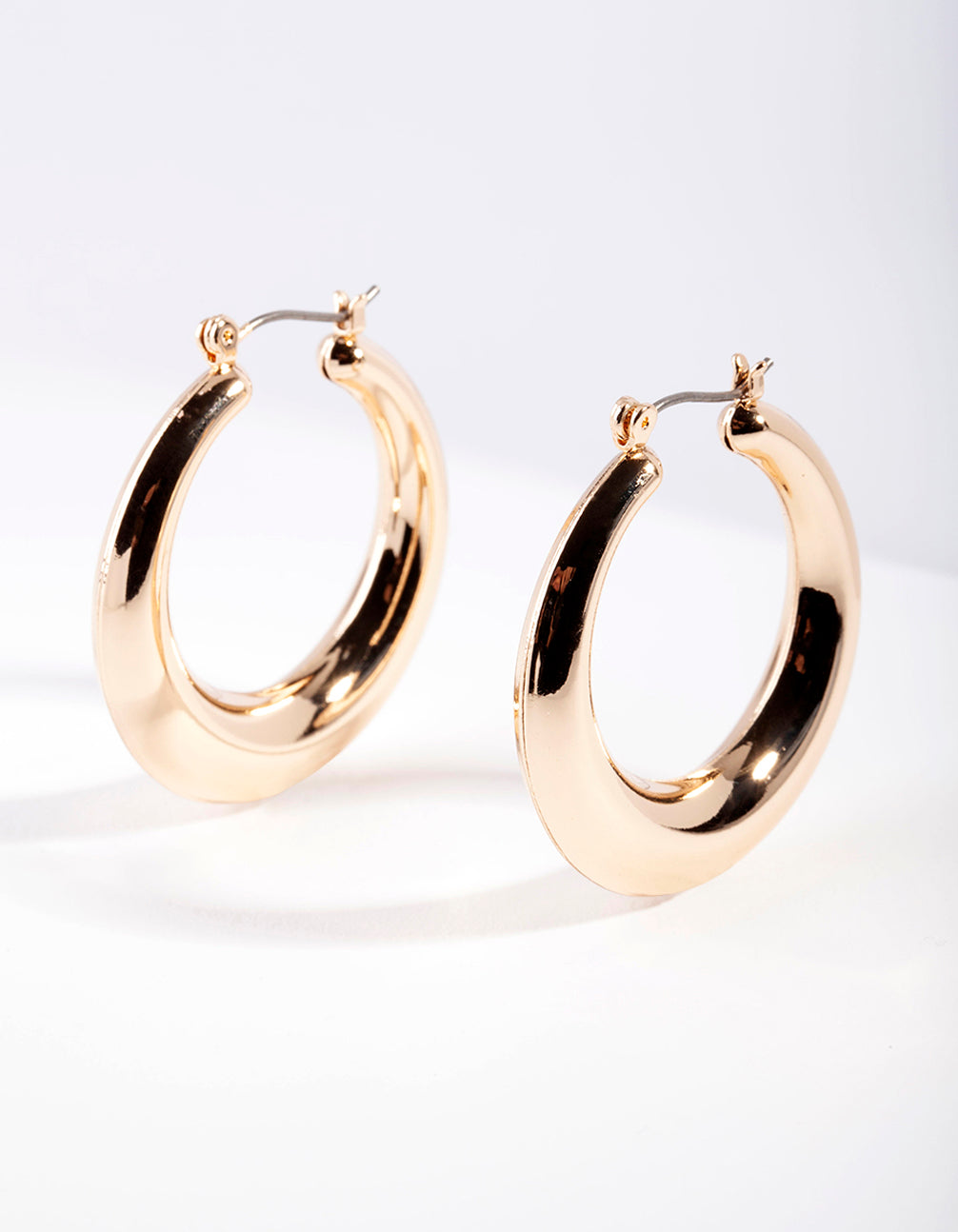 Gold Classic Smooth Hoop Earring
