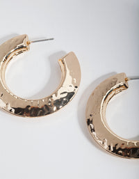 Gold Etched Disc Hoop Earrings - link has visual effect only