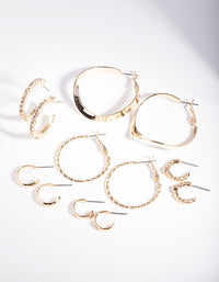 Gold Multi Choice Hoop Earring 6 Pack - link has visual effect only