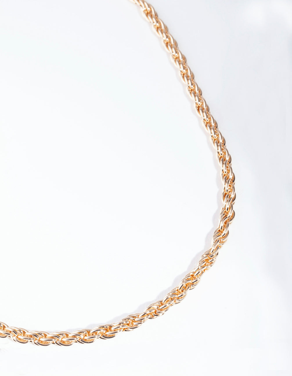Gold Thick Woven Chain Necklace