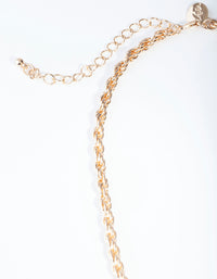 Gold Thick Woven Chain Necklace - link has visual effect only