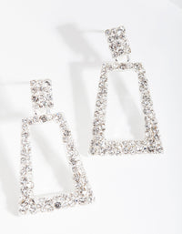 Silver Small Diamante Geo Earring - link has visual effect only