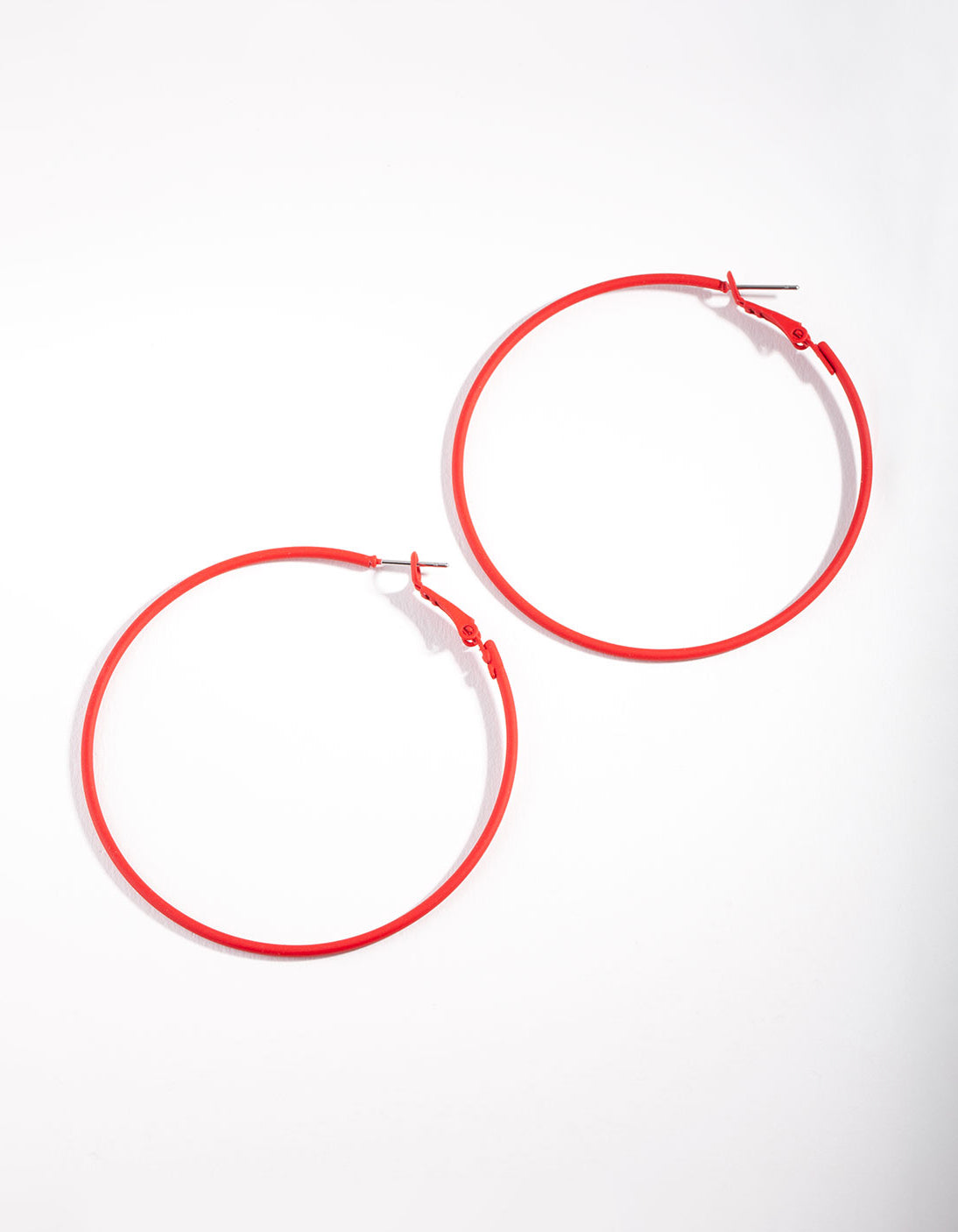 Red Simple Hoop Earring
