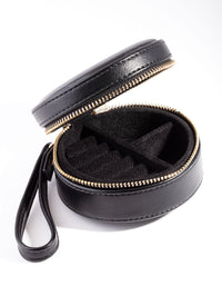Black Round Jewellery Case - link has visual effect only