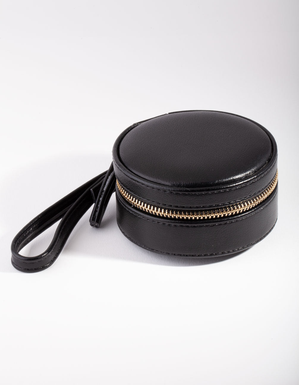 Black Round Jewellery Case