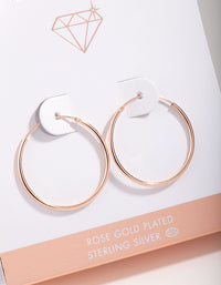 Rose Gold Plated Sterling Silver 25mm Hoop Earrings - link has visual effect only